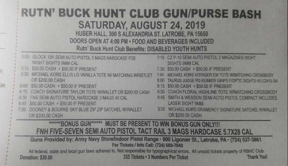 Upcoming Events - Rut'N Buck